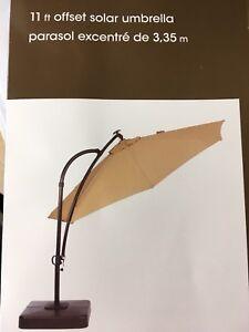 11 Foot offset Solar Umbrella