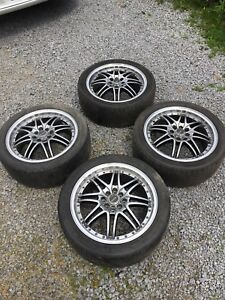 RIAX racing rims and tires for Honda Civic size 215/45ZR17