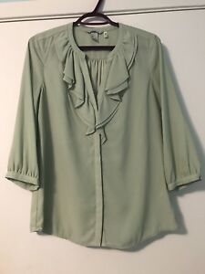 Green half sleeve's blouse -size 12
