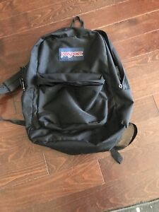 Black canvas jansport backpack