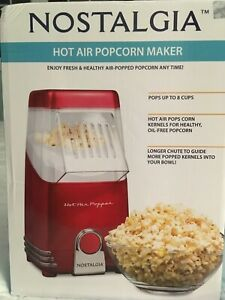 Hot air popcorn popper. Nostalgia brand. Red. New in box.