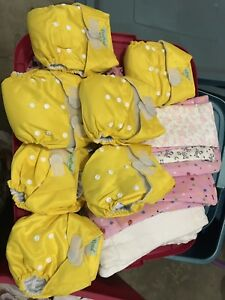 Cloth Diapers and Liners- like new!!