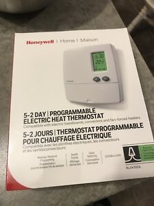 Programmable electric heat thermostat