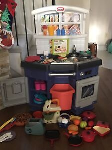 Little Tikes play kitchen with extra appliances and dishes
