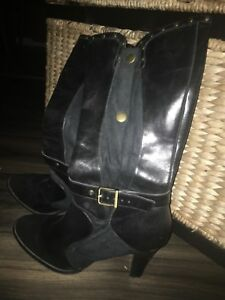 High Heel Leather Boots
