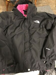 Women's black and pink 3-1 winter coat