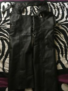 Motorcycle chaps size l leather