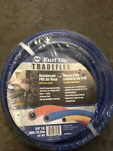 "5/8"" 50foot air hose with 1/4 "" fittings brand new 40$"