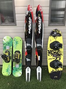 Wakeboard, Water Skis, Wake Skis, PFD, Towable Booster