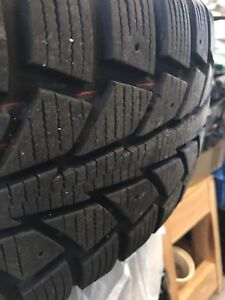 Uniroyal Tigerpaw ice and snow II Winter Tires on Steel Rims