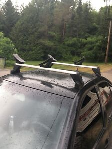 Volkswagen Roof racks with removable kayak attachments