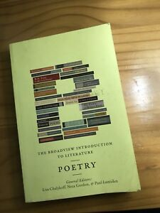 Intro to poetry textbooks