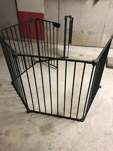 SOLD Solid steel Safety Fence with Gate SOLD