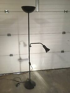 Classic IKEA torch style lamp with reading lamp