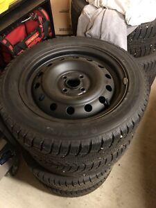 195/55/r15 Westlake winter tires on Rims