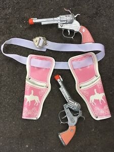 Western Cowboy Cowgirl Toy Guns and Holster Set
