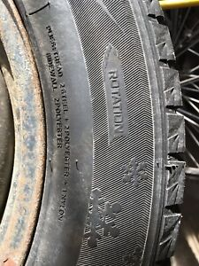 205/60/r16 winter rims w/tires