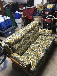Clean retro 70's love seat couch