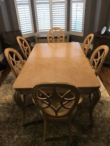 Dining Room Table and Display Cabinet by Bernhardt