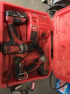 18v Milwaukee lithium re drill and impact