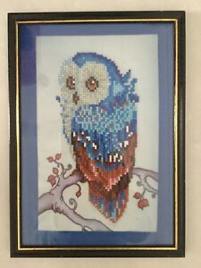 Owl rhinestone mosaic art Jimboomba Logan Area Preview