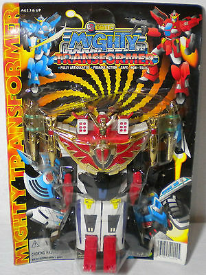 MIGHTY TRANSFORMERS VTG 80'S - 90's POSEABLE ACTION FULLY ARTICULATED ROBOT MOSC