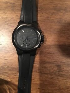 Matte black Michael kors men's watch
