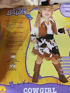 Girls cow girl costume