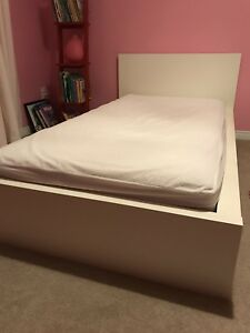 Ikea Malm Twin Bed with Pocket Coil Matress