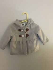 Baby girl grey pea coat