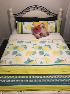Queen French Shabby Chic Wood Bed Frame Beds Gumtree Australia