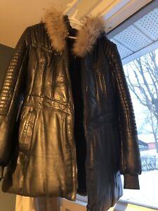 Manteau hiver Cuire et fourrure, de chez Cuir Dimitri