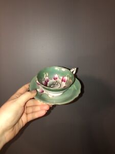 Shaford tea cup and saucer hand painted