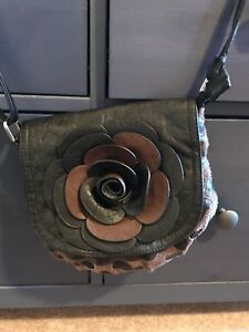 Flower Purse with leopard detail