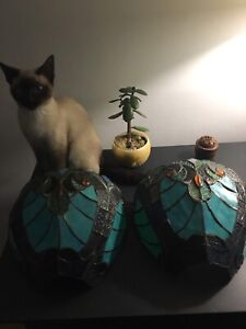 Vintage Stained Glass Sconce
