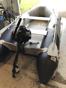 Inflatable boat and outboard motor