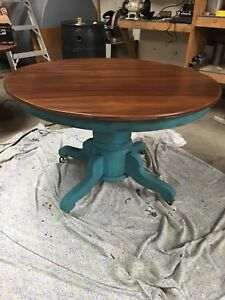 Real oak refinished dining table