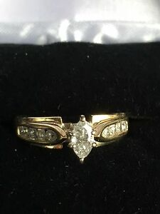 Diamond Engagement Ring Sz 7