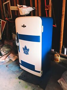 Vintage Toronto Maple Leafs Fridge Restored