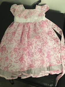 Girls flowered dress - used