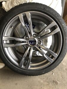 BMW 3-series winter tires and rims (set of 4)