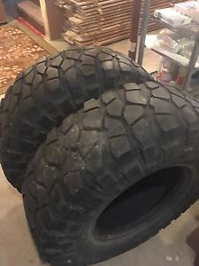 Two 37x12.50r17 krawlers $300
