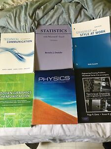 Various 1st year engineering technology books