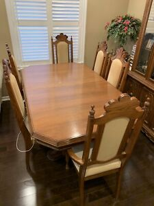 Formal Wood Dining Room Set - 8 Pieces