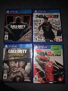 PS4 Games For Sale, opened but never used