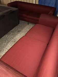 Two piece red fabric Lounge set Plumpton Blacktown Area Preview