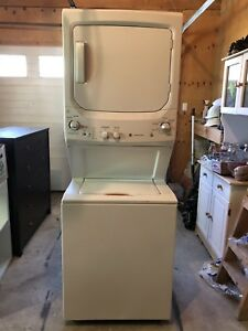 GE stacked washer and dryer