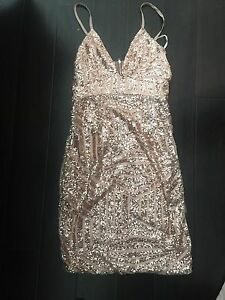 Xenia boutique rose gold dress