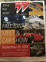 PORSCHE SWAP MEET WhaleTail Canada 7th Annual Fall Swap Meet