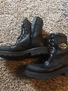 Harley Davidson Ladies Leather Motorcycle Boots